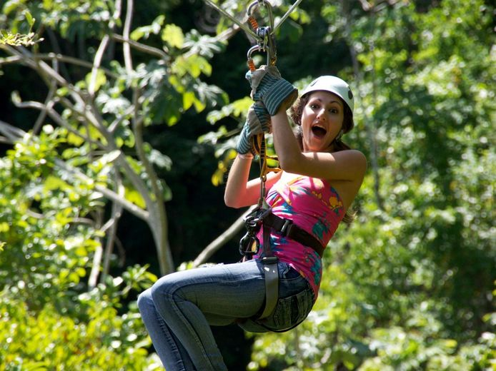 Zip Lining and Cave Tubing in belize