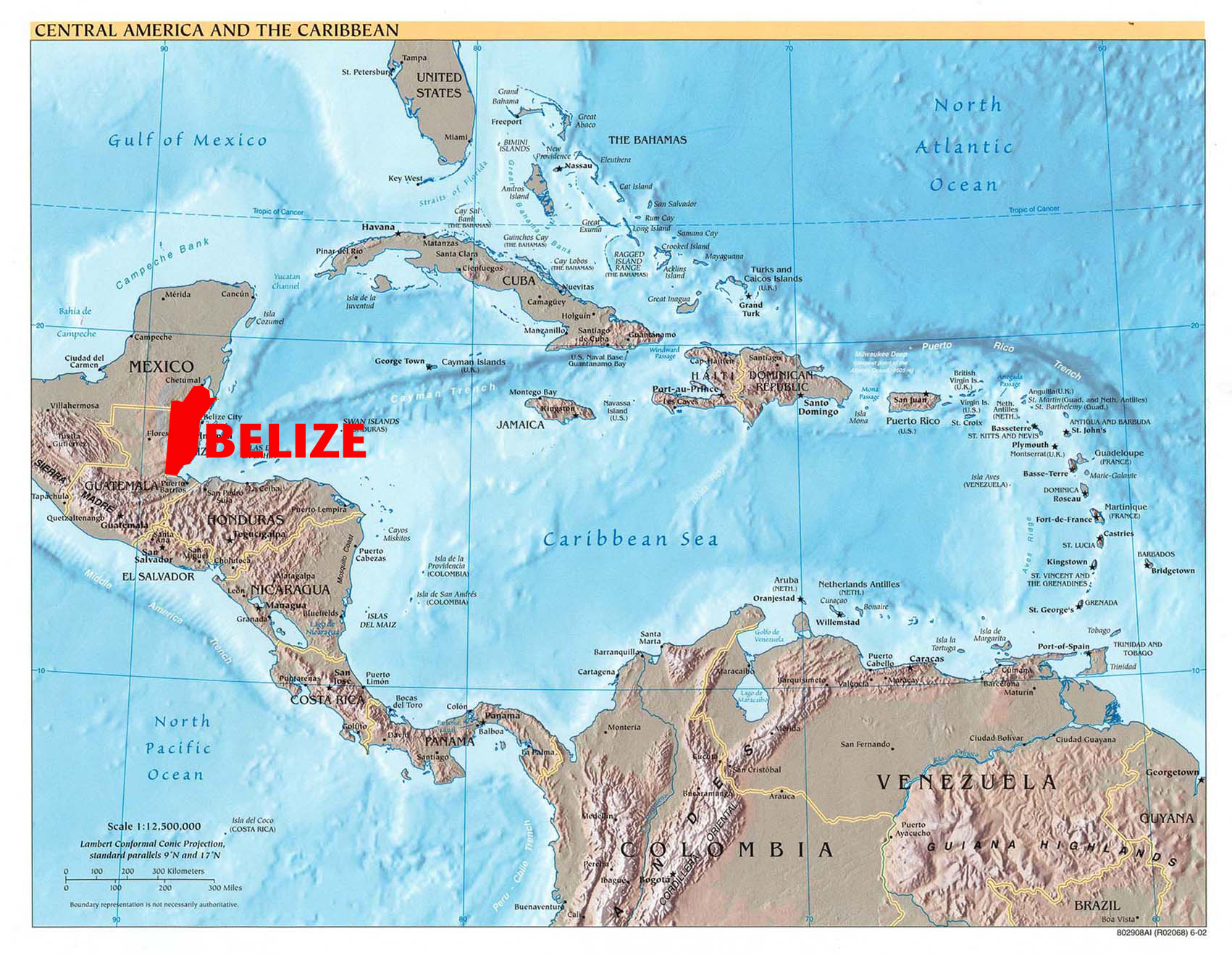 Belize Political Map.Maps Of Belize Detailed Maps Of Belize And Central America